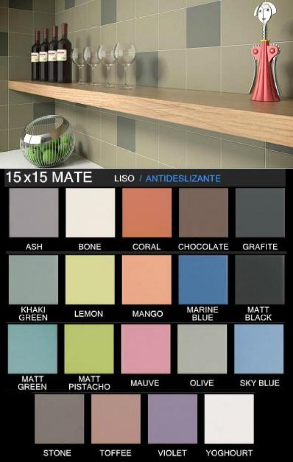 Azulejo 15x15 mate marfil sevilla for Azulejo 15x15