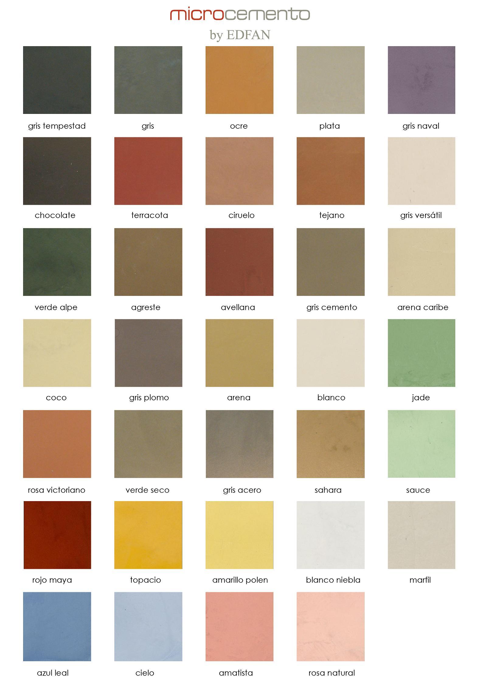 Carta de colores marfil sevilla - Aplicacion de microcemento en paredes ...